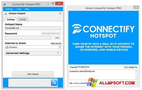 Screenshot Connectify Hotspot para Windows XP