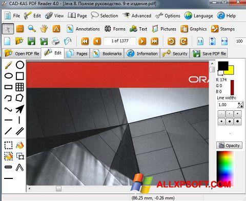 Screenshot PDF Reader para Windows XP