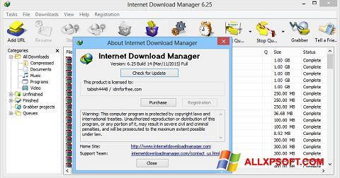 Screenshot Internet Download Manager para Windows XP