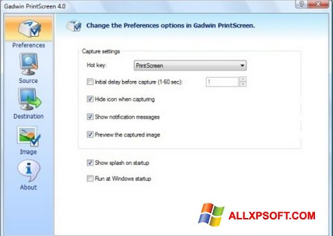 Screenshot Gadwin PrintScreen para Windows XP