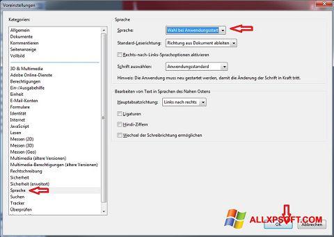 Screenshot Adobe Reader para Windows XP