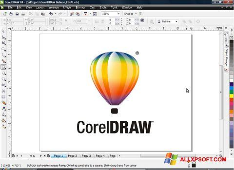 Screenshot CorelDRAW para Windows XP