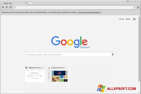 Screenshot Google Chrome para Windows XP