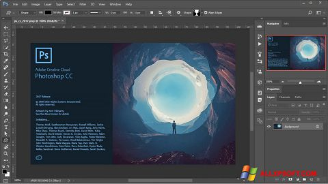 Screenshot Adobe Photoshop para Windows XP