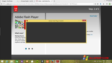 Screenshot Adobe Flash Player para Windows XP