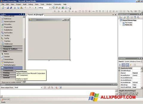 Screenshot Microsoft Visual Studio para Windows XP
