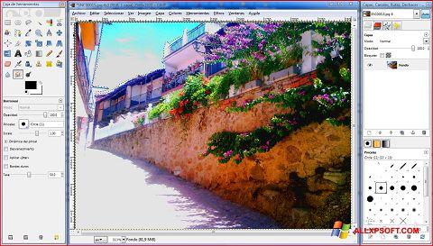 Screenshot GIMP para Windows XP