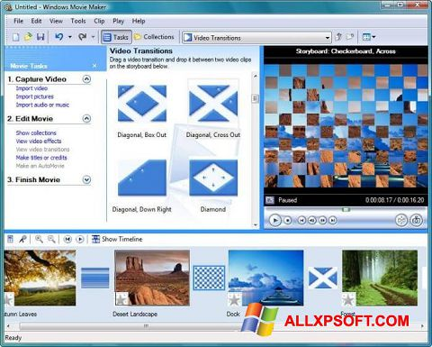 Screenshot Windows Movie Maker para Windows XP