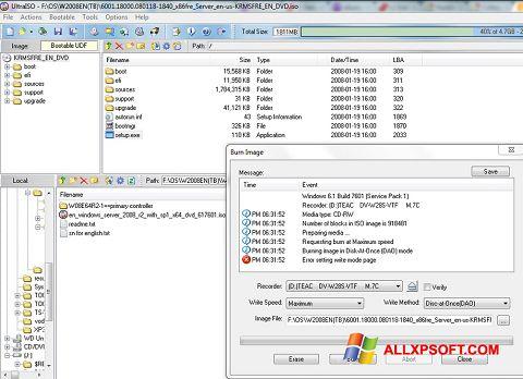 Screenshot UltraISO para Windows XP