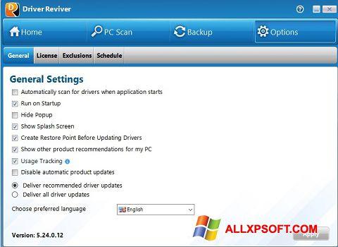 Screenshot Driver Reviver para Windows XP