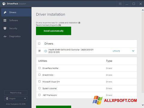 Screenshot DriverPack Solution para Windows XP
