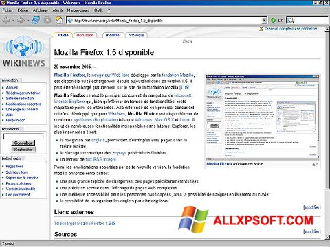 Screenshot Mozilla Firefox para Windows XP