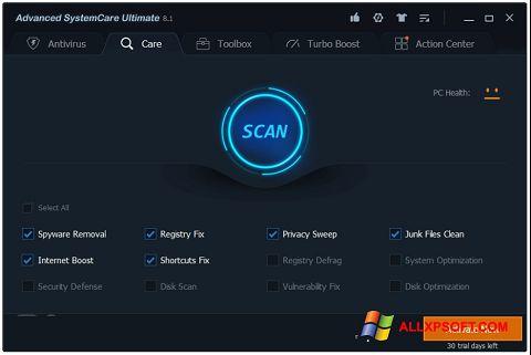 Screenshot Advanced SystemCare para Windows XP