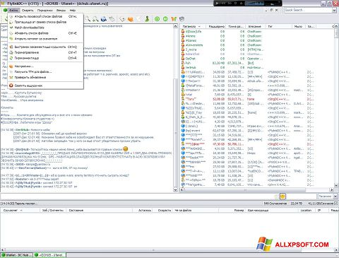 Screenshot FlylinkDC++ para Windows XP