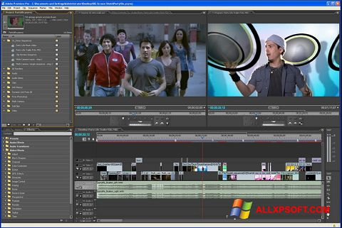 Screenshot Adobe Premiere Pro para Windows XP