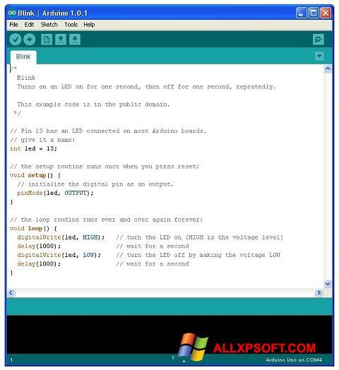 Screenshot Arduino para Windows XP