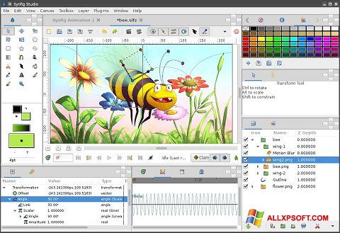 Screenshot Synfig Studio para Windows XP