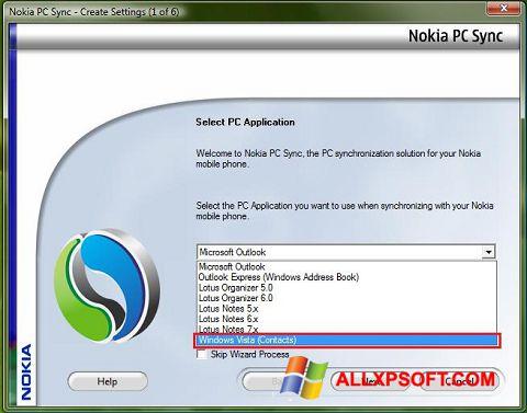 Screenshot Nokia PC Suite para Windows XP