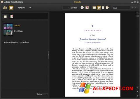 Screenshot Adobe Digital Editions para Windows XP