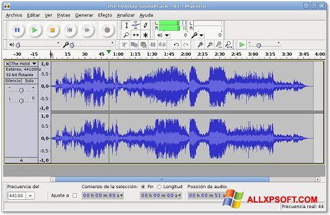 Screenshot Audacity para Windows XP