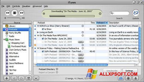 Screenshot iTunes para Windows XP