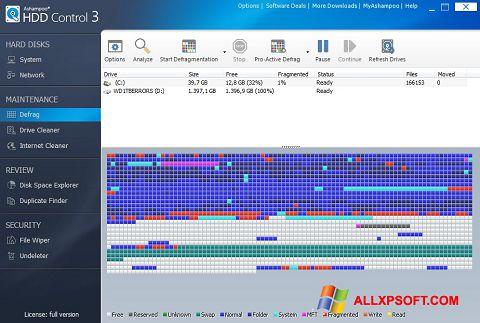 Screenshot Ashampoo HDD Control para Windows XP