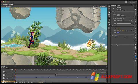 Screenshot Adobe Flash Professional para Windows XP