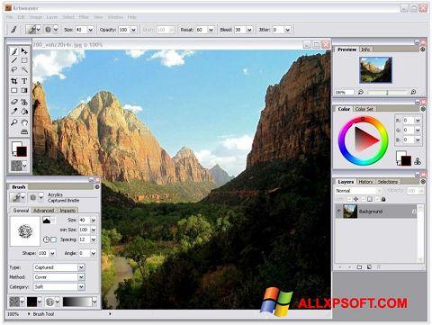Screenshot Artweaver para Windows XP
