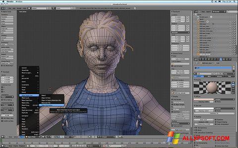 Screenshot Blender para Windows XP