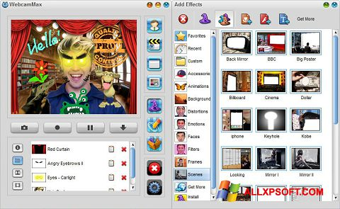 Screenshot WebcamMax para Windows XP
