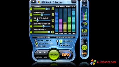 Screenshot DFX Audio Enhancer para Windows XP