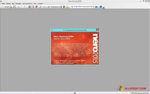 Screenshot Nero para Windows XP