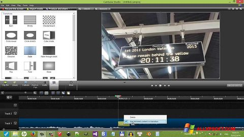 Screenshot Camtasia Studio para Windows XP