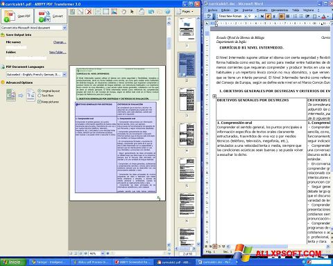 Screenshot ABBYY PDF Transformer para Windows XP