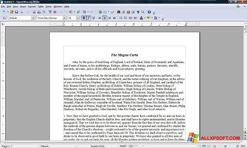 Screenshot OpenOffice para Windows XP
