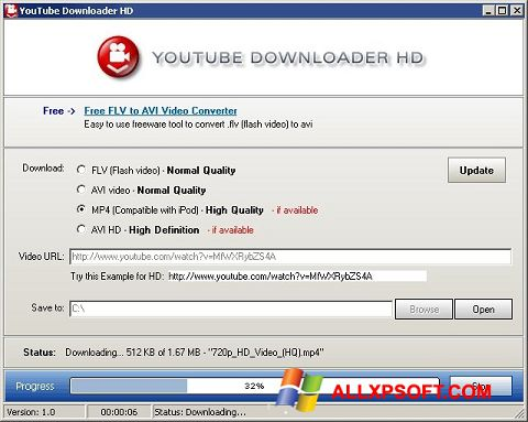Screenshot Youtube Downloader HD para Windows XP